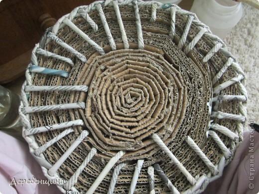 Мастер-класс Плетение ленивый табурет и грибная поляна  Трубочки бумажные фото 9