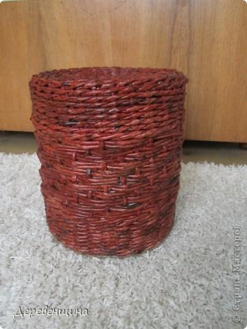 Мастер-класс Плетение ленивый табурет и грибная поляна  Трубочки бумажные фото 1