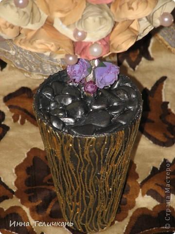 Деревце получилось еще и с запахом. Бумагу красила то кофе)))). фото 3