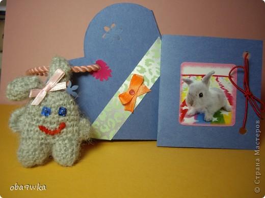 В состав набора входят: брелок- зайчик, открыточка и подарочная сумочка)) фото 1