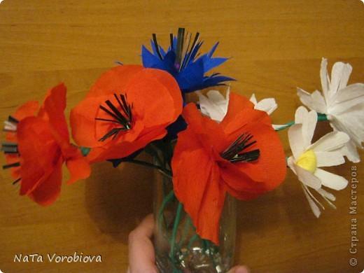 Букет полевых цветов и бабочка фото 3