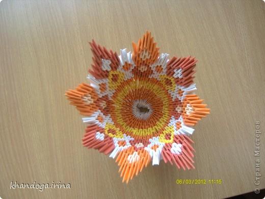 Долго присматривалась к работам в технике модульное оригами. Выношу на ваш суд свои работы Конфетница фото 2