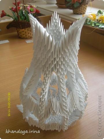 Долго присматривалась к работам в технике модульное оригами. Выношу на ваш суд свои работы Конфетница фото 3