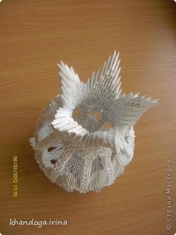 Долго присматривалась к работам в технике модульное оригами. Выношу на ваш суд свои работы Конфетница фото 4