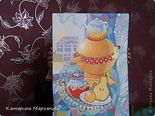 Всем привет! Сегодня мой блог будет посвящен декоративной живописи. Давно хотелось сделать натюрморт в таком стиле. И вот моя первая работа!!!  фото 1