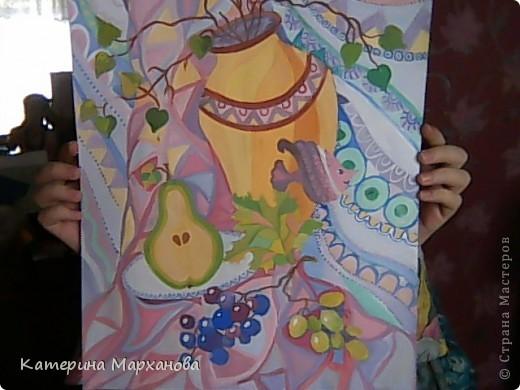 Всем привет! Сегодня мой блог будет посвящен декоративной живописи. Давно хотелось сделать натюрморт в таком стиле. И вот моя первая работа!!!  фото 5
