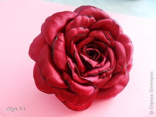 """мои очередные цветочки. Резинка для волос Роза """"БОРДО"""" и заколка РОМАШКА. фото 2"""