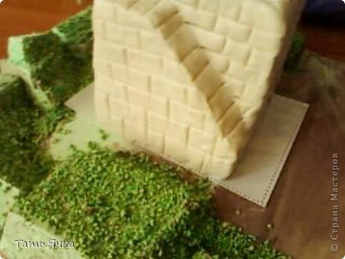 Создаем пейзаж для домиков из соленого теста фото 5