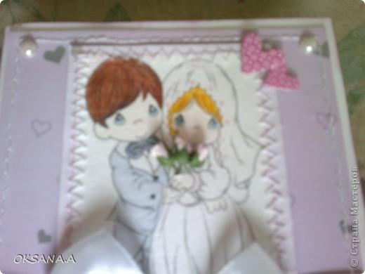 Мою сестру пригласили на свадьбу и вот такая получилась открыточка. фото 3