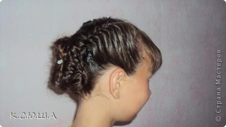 Добрый день! Хочу показать причёску которую делала на выпускной своей сестрёнке, ей очень понравилось! фото 2