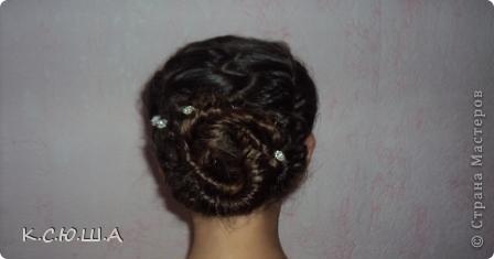 Добрый день! Хочу показать причёску которую делала на выпускной своей сестрёнке, ей очень понравилось! фото 4
