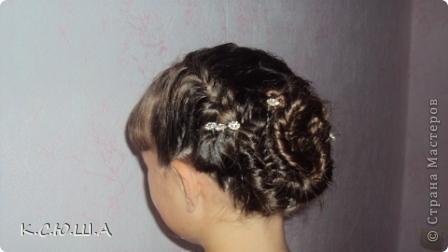 Добрый день! Хочу показать причёску которую делала на выпускной своей сестрёнке, ей очень понравилось! фото 1