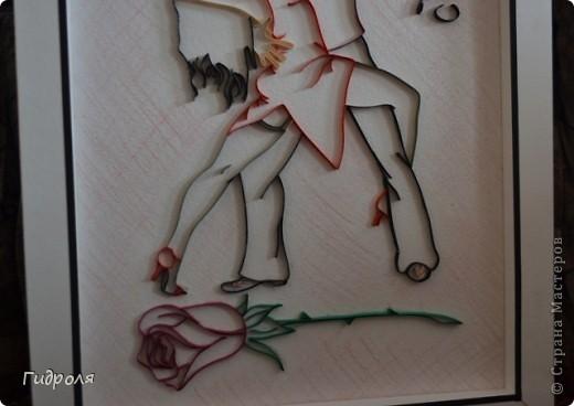 """Здравствуйте, Мастерицы! Выношу на Ваш суд свою картину. Назвала """"Танго"""". Захотелось для танцевального руководителя моего сына сделать, что-нибудь связанное с танцами. Так родилась идея, ну и в последствии сама картина. фото 4"""