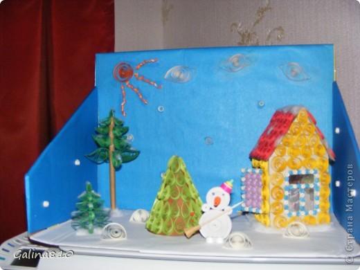 Поделка делалась детям в школу на новогодний конкурс (2012г.). Эта работа заняла первое место, о чем имеется грамота.  фото 1