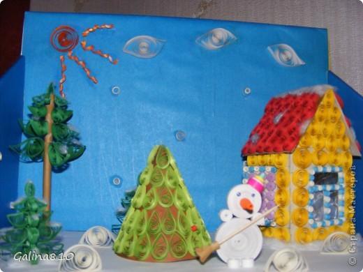 Поделка делалась детям в школу на новогодний конкурс (2012г.). Эта работа заняла первое место, о чем имеется грамота.  фото 2