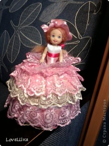 Моя первая, и надеюсь не последняя, куколка - шкатулка) фото 1