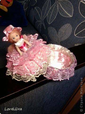 Моя первая, и надеюсь не последняя, куколка - шкатулка) фото 3