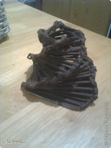 Конфетница из газетных трубочек (не окрашена) фото 4