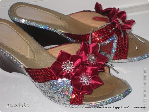 """""""Новая"""" жизнь старым вещам. Декор обуви№2 фото 1"""