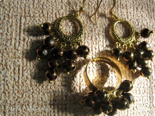 Наборчик: сережки+кольцо