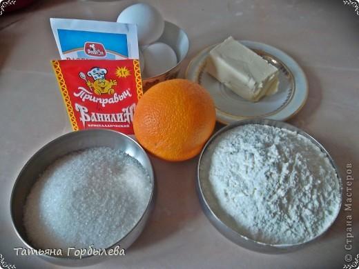Апельсиновый пирог. Ну очень апельсиновый, очень ванильный, очень сладкий!!!! Форма та же, содержимое другое, но все по порядку.Пирог готовится быстро и просто.Рецептик подглядела на сайте Delo -Vcusa.ru.Автор Анастасия. фото 2