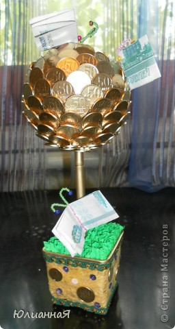 Дарить деньги в конверте как -то банально...Вот и решила сделать таких бабочек и посадить на деревце. фото 2
