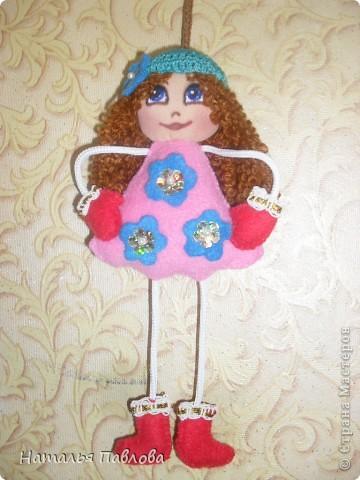 Куклы-подвески(по примеру двух Ирин из Страны Мастеров).Пусть меня простят,просто захотелось сшить такие... фото 3
