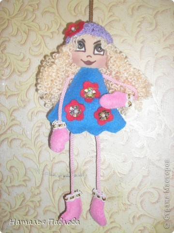 Куклы-подвески(по примеру двух Ирин из Страны Мастеров).Пусть меня простят,просто захотелось сшить такие... фото 4