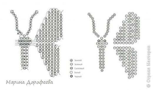 Бабочка из бисера Бисер