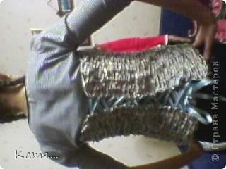 Конфетница из газетных трубочек (не окрашена) фото 6
