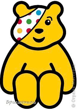 По примеру китайских звериков сделала своего любимого Падси! Здесь мой первый жёлтый мишка в мозаичном плетении http://stranamasterov.ru/node/288857. Падси (Pudsey). Традиционный Падси – желтый медведь с перевязанным правым глазом. фото 4