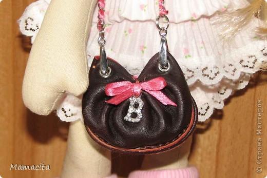 Гардероб Мастер-класс Поделка изделие Шитьё Кожаная сумочка для куклы МК Кожа Ленты фото 1
