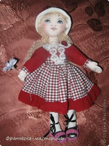 Предлагаю Вашему вниманию ещё одну куклу-большеножку! Рост куколки - 32 см. По-моему, получилась приветливая симпатичная девушка! фото 1