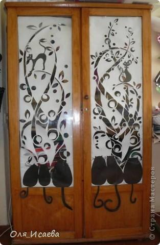 Это мой старый шкаф на работе. Идею взяла в Стране мастеров. К сожалению, не помню у кого. фото 1