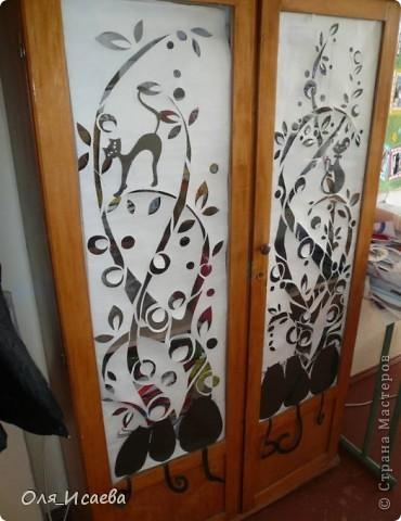 Это мой старый шкаф на работе. Идею взяла в Стране мастеров. К сожалению, не помню у кого. фото 2