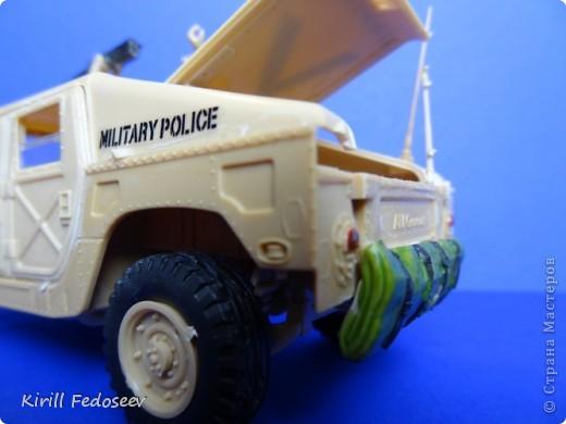 """Добрый день, """"СТРАНА МАСТЕРОВ""""!  Сегодня  хочу показать модель армейского автомобиля «HUMMER». Масштаб модели 1:35  фото 11"""