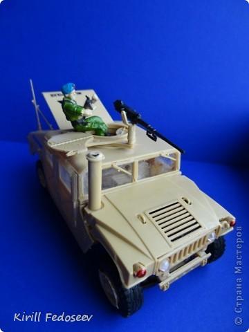 """Добрый день, """"СТРАНА МАСТЕРОВ""""!  Сегодня  хочу показать модель армейского автомобиля «HUMMER». Масштаб модели 1:35  фото 3"""