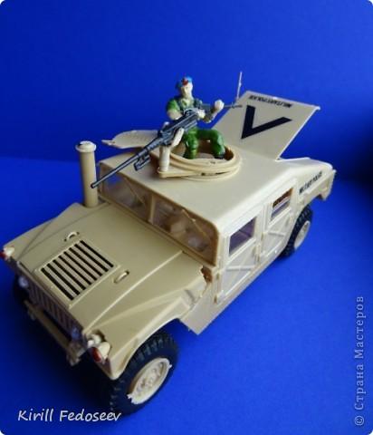 """Добрый день, """"СТРАНА МАСТЕРОВ""""!  Сегодня  хочу показать модель армейского автомобиля «HUMMER». Масштаб модели 1:35  фото 7"""