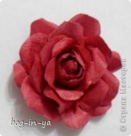 Вот такой цветок получился по МК ASTORIA фото 3
