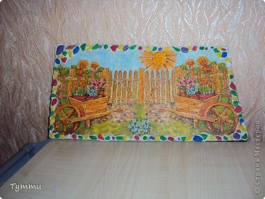 Картину украсила декоративными камнями ,прямо на пасту,вроде держится фото 1