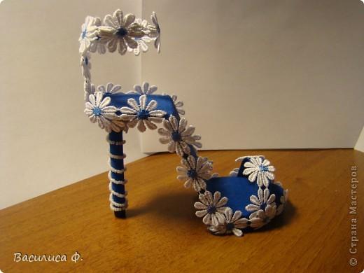 Вот такую туфельку я сделала. Вдохновила меня эта туфелька -  http://stranamasterov.ru/node/335282?c=favorite .  фото 1