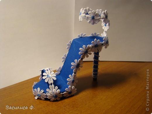 Вот такую туфельку я сделала. Вдохновила меня эта туфелька -  https://stranamasterov.ru/node/335282?c=favorite .  фото 2