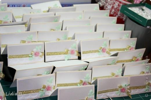 Наконец-то нашла время загрузить фотографии милых вещичек со свадьбы моего сына. Делали вместе с дочей, вроде всем понравилось. Казна для денежных презентов. Сделана из двух цилиндров, малый прикреплен на кусочки ленты-липучки для штор, после сбора подарков легко снимается, открывая доступ в казну. Цилиндры обклеены остатками обоев(смотрятся достаточно гармонично), края украшены кружевом и тесьмой. фото 8