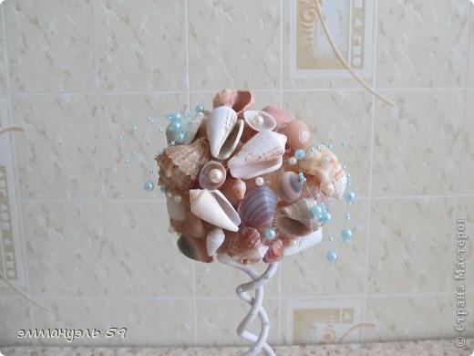 Дорогие мастерицы представляю вам Морской топиарий. Ракушки привезены со Средиземного моря. Сделала на одном дыхании. фото 2