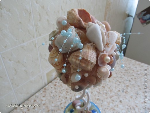 Дорогие мастерицы представляю вам Морской топиарий. Ракушки привезены со Средиземного моря. Сделала на одном дыхании. фото 3