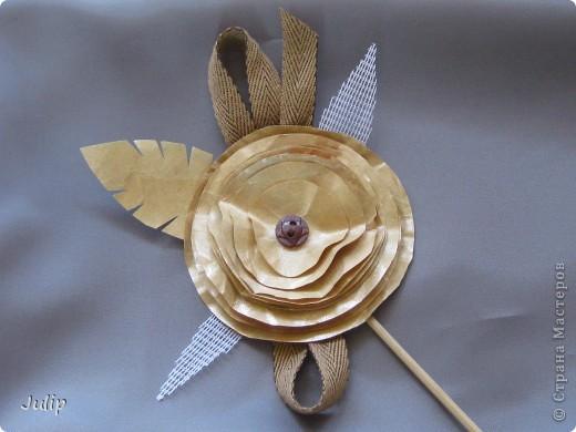 Добрый день! Хочу поделится идеей создания розы из чайных пакетов. Мне нравится мастерить из бросового материала. В этот раз решила попробовать в работе чайные пакеты и посмотреть, что может получится. фото 4