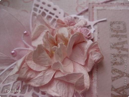 """Наши чувства и эмоции бывают разного цвета. Вот сегодня """"родилось """" моё """"Скучаю"""" в розовом:) И опять тон в тон:) Card Making фото 3"""
