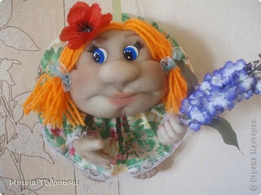 вчера поздно получила заказ, сегодня раненько утром сшила такую куклеху.Она уже у своей новой хозяйки. фото 1