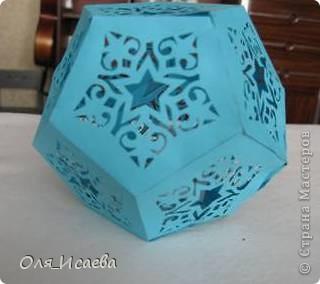 Вдохновившись работами Ольги Качуровской, сделала такой двенадцатигранник. Это первая работа. не судите строго. фото 2