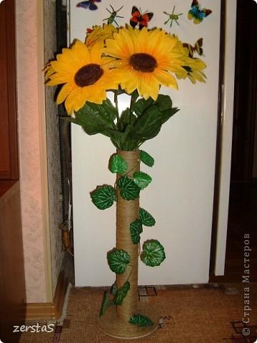 Ваза для цветов из картона